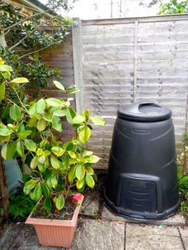 Our compost bin