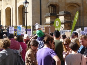 Oxford Demo 'Refugees Welcome' September 2015