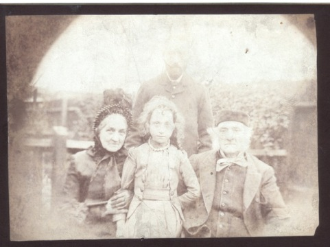 A Foden ancestor with her grandparents - a very old family photo!