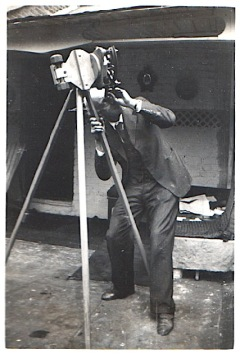 Henry Howard Hammond, my maternal grandfather, with his telescope