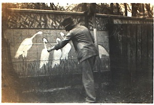 He also painted pelicans on the garden wall - long before I knew him! An introduction to creative impulses, and art!