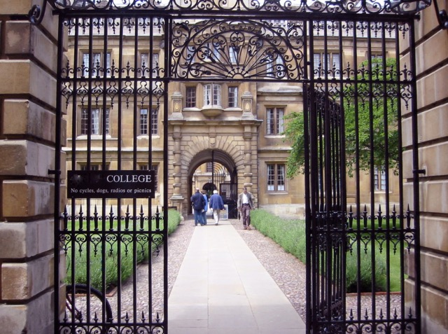 Clare College entrance, where Jenny met Max