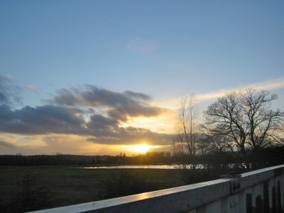 winter dawn/sunset over PortMeadow