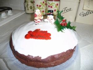 xmas choc cake