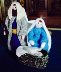 Crib scene knitted